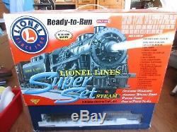 Lionel Fastrack Prêt À Fonctionner Super Set Steam 7-11027 Utilisé Plus De 30 Pièces Origbox