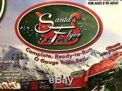 Lionel Flyer Père Noël Complet Prêt À Fonctionner O Gauge 6-30164 Set Locomotive De Train