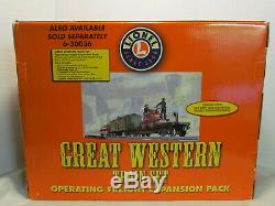Lionel Great Western # 6-30034 Train Prêt À Fonctionner + Lincoln Logs New Iob
