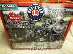 Lionel Milwaukee Road Prêt À Courir Steam Freight O-gauge Electric Train Set