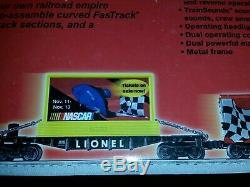 Lionel Nascar Électrique Train Prêt À Fonctionner Modèle 7-11004 A Des Sons De Train