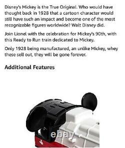 Lionel O Échelle 1823050 Mickey 90e Anniversaire Set Prêt À Exécuter Un Ensemble De Train