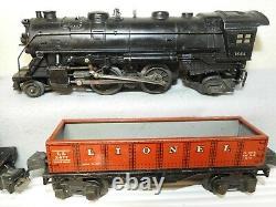 Lionel O Gauge Avant-guerre #1664 Train De Marchandises De Locomotive À Vapeur Prêt À Fonctionner