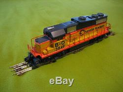 Lionel O Train Gauge Chessie Ensemble De Fret Diesel - Complet - Prêt À Lancer # 6-31915
