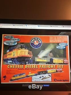 Lionel O Train Gauge Chessie Ensemble De Marchandise Diesel Fret - Prêt À Lancer # 6-31915