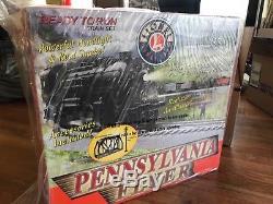 Lionel Pennsylvania Flyer Sifflet Lumineux Set De Train Prêt À Lancer Vapeur 6-30018