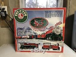 Lionel Père Noël Flyer Complet Prêt À Fonctionner O Gauge 0-8-0 Set Locomotive De Train