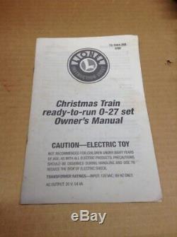 Lionel Train 6-21944 Prêt À Courir 0-27 Noël Set Électrique Musical In Box