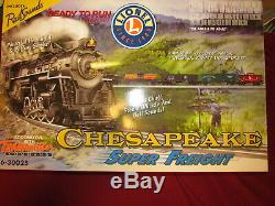 Lionel Train # 6-30025 Chesapeake Super Fret Set Ready To Run Nouveau