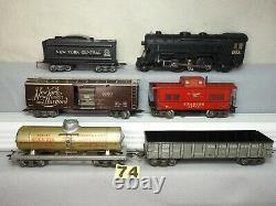 Marx O Gauge #25000 Train De Marchandises Locomotive À Vapeur Ensemble Withset Box, Prêt À Fonctionner