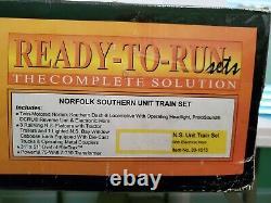 Mth 30-1015 Railking Ready To Run Norfolk Southern Unit Train Set / C-8