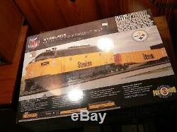 Mth 81-4007-1 Ho NFL Steelers F-3 Ready To Run Train Set- New Proto 3.0