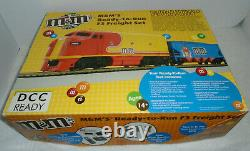 Mth Ho Scale M&m's Ready To Run F3 Freight Set 81-4004-1 Rare Set