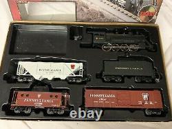 Mth Railking Pennsylvanie Prêt À Exécuter Ensemble De Fret Avec Moteur À Vapeur 30-4023-1