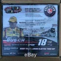 Nascar M & M Kyle Busch 18 Lionel Prêt-à-run O-diecast Gauge Train # / 999 Nouveau