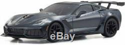 Nouveau Kyosho Mini-z Rwd Chevrolet Corvette Zr1 Gris Métallisé Ready Set Rtr 32334gm