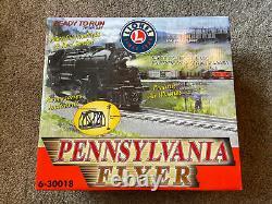 Nouveau Lionel Pennsylvania Flyer Train Set 6-30018 Démarreur Prêt À Courir Boîte Ouverte