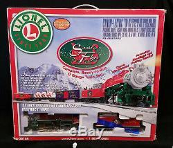 Nouveau Lionel Train Santa Flyer Complet Et Prêt À Fonctionner O Gauge