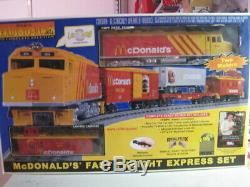 O Échelle Railking-mth Prête À Faire Fonctionner Le Train Mcdonalds Excellent Condition Avec Boîte