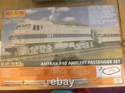 O-gauge Mth Amtrak F40ph Diesel Prêt À Exécuter Train De Passagers Ensemble Nouveau
