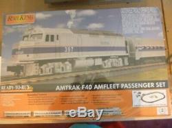 O-gauge Mth Amtrak F40ph Diesel Prêt À Fonctionner De Train De Voyageurs Nouveau
