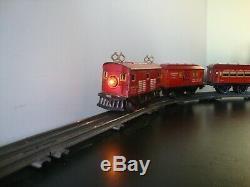 Prêt-à-run American Flyer Locomotive Prewar 1096 Tinplate O Gauge Train