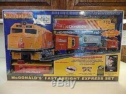 Rail Roi Prêt-à-run Gauge Rapide Fret Express O Mcdonald Train