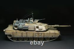 Tamiya Rc 1/16 Battle Tank M1a2 Abrams Rtr Prêt À Exécuter Ensemble Complet Construit Et Peint