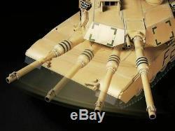 Tamiya Rc 1/16 Battle Tank M1a2 Abrams Rtr Prêt À Fonctionner Ensemble Complet Construit Et Peint