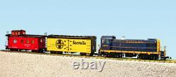 USA Trains Echelle G R72401 Santa Fe S4 Ensemble De Marchandises Diesel Prêt À Run Set