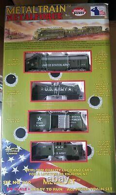 U.s. Army Modèle De Train En Métal De Puissance Prêt À Exécuter Tous Les Trains En Métal Ensemble No. 830 Ho Sc