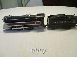 Vintage 1950 Marx Tin Plate Train Set. Complet Et Prêt À Exécuter Excellen