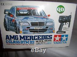 Vintage Tamiya 46019 Amg Mercedes Classe C Dtm D2 À Commande Rapide Rc Set 1/12 Rtr