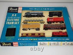 Vtg 1956 Revell H-o Ready To Run Electric Train Set Deluxe F7 Road Diesel 7 Voitures