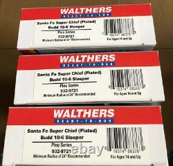 Walthers Ho Santa Fe Super Chief Ready-to-run Voitures De Tourisme (ensemble De 13)